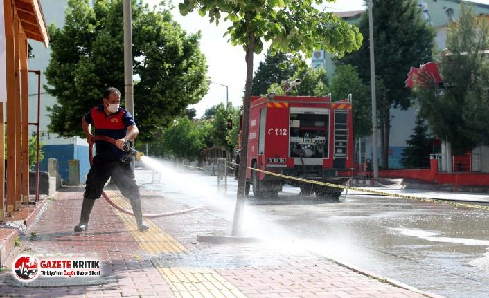 Burdur'da Cadde ve Kaldırımlar Yıkandı