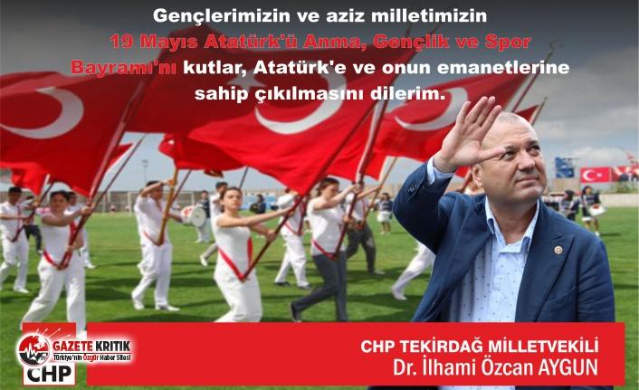 """CHP'Lİ AYGUN: """"19 MAYIS BİLİNCİ GENÇLERİMİZLE ŞAHLANIYOR"""""""