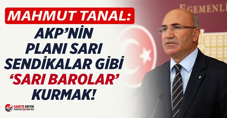 CHP'li Tanal: Türkiye'ye 'Sarı Baro' utancı yaşatmayın!