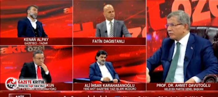 Davutoğlu ile Yeni Akit yazarı arasında tartışma: Dilinizle beyniniz arasında sağlam bir ilişki var mı; sınırı aşıyorsunuz