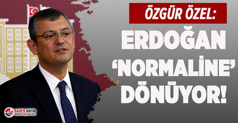 HDP'li belediyelere kayyum atanmasına CHP'li Özgür Özel'den tepki: Erdoğan 'normale' dönüyor