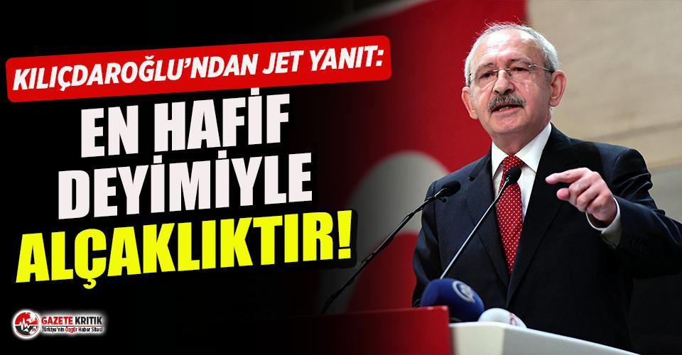 Kılıçdaroğlu'ndan Erdoğan'a jet yanıt: En hafif deyimiyle alçaklıktır!