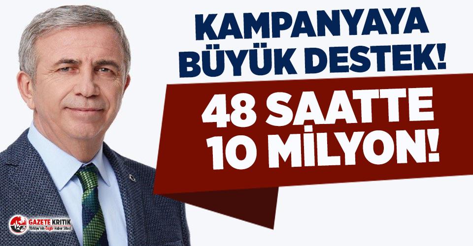 Mansur Yavaş'ın kampanyasına 48 saatte 10 milyon lira destek!