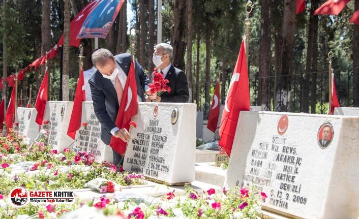 Mersin Büyükşehir Belediye Başkanı Seçer, bayramda şehit ailelerini yalnız bırakmadı!