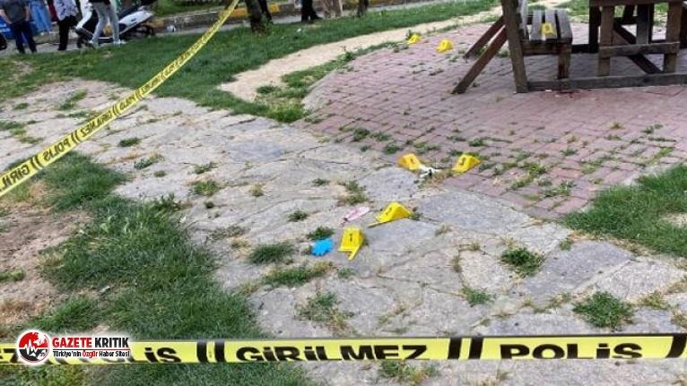 Parkta dehşet! Oğlunu öldürüp polisin gelmesini bekledi