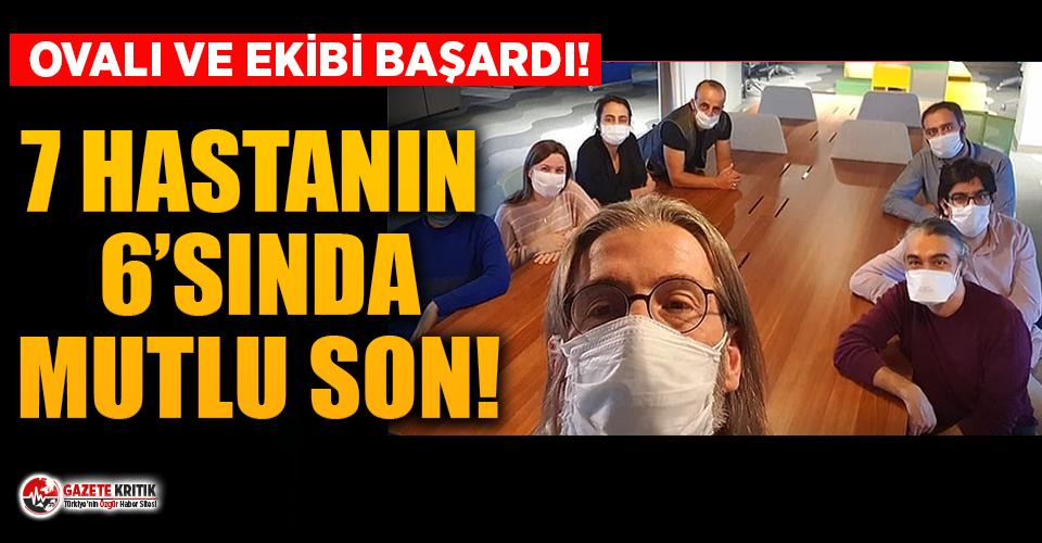 Prof. Dr. Ercüment Ovalı: ''7 hastanın 6'sında başarılı olduk''