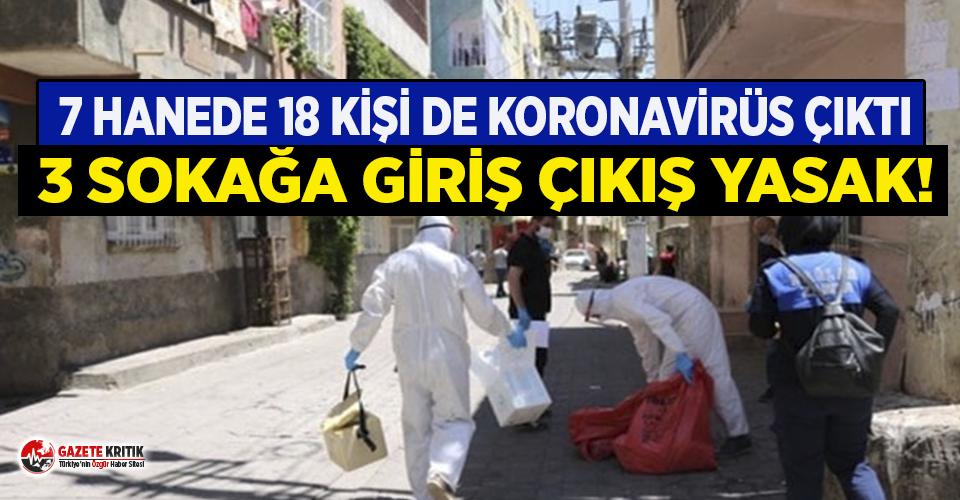 18 kişide koronavirüs çıktı, 3 sokağa giriş-çıkış yasak!