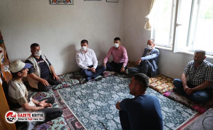 Başkan Ercengiz Akay ailesine taziyede bulundu