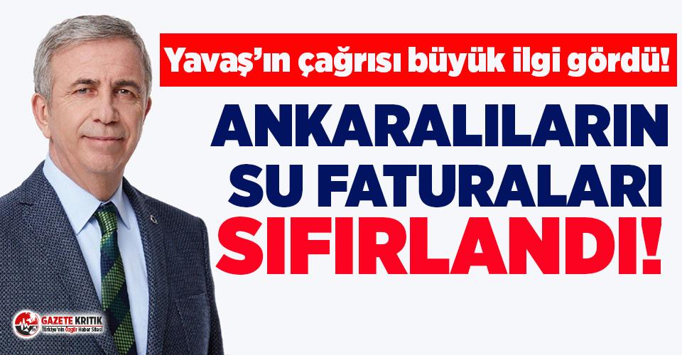 Başkan Yavaş'ın çağrısı büyük ilgi gördü: Ankaralıların tüm su faturaları ödendi