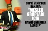 """CHP Vekil'den Bakana: """"Meslek grupları için hangi tedbirler alındı?"""""""