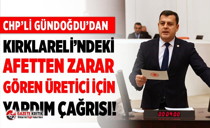 CHP'li Gündoğdu, Kırklareli'nde afetten zarar gören üreticiye dikkati çekti!