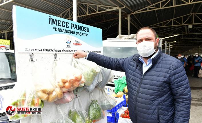 Çiğli Belediyesi'nden dayanışma projesi: Pazar yerlerine imece panosu!