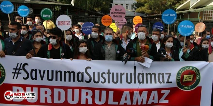 Diyarbakır'da avukatlardan 'çoklu baro' protestosuna engel!