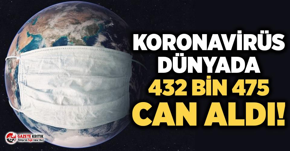 Dünya genelinde koronavirüs bilançosu: Hayatını kaybedenlerin 432 bin 475'e yükseldi