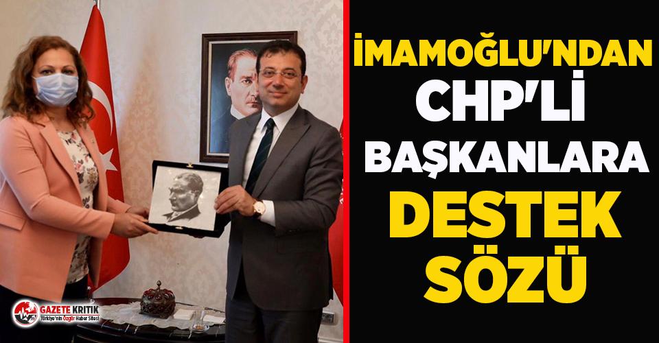 Ekrem İmamoğlu'ndan CHP'li belediyelere destek sözü