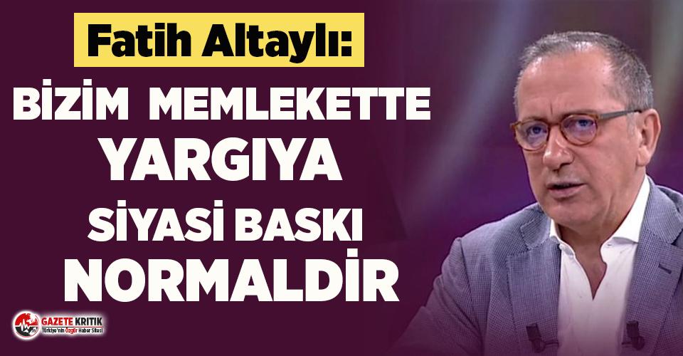 Fatih Altaylı'dan televizyonculara tepki: Bu yalanlarla hâlâ ortalıkta olacak mı!