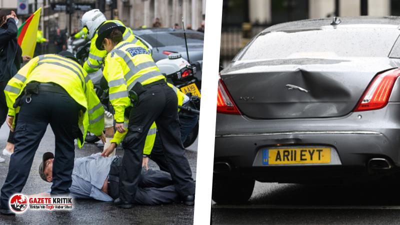 Londra'da Kürtlerin protestosu: Göstericilerden biri yola atladı; Boris Johnson'ın aracı kaza yaptı