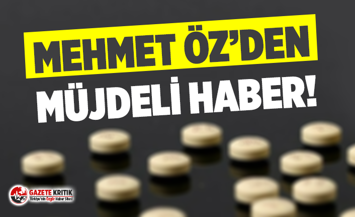 Mehmet Öz'den Koronavirüs ilacı müjdesi!
