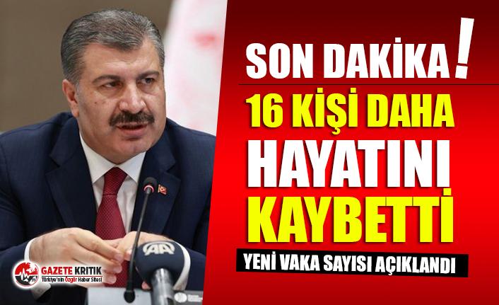 Sağlık Bakanı Fahrettin Koca Türkiye'nin son koronavirüs tablosunu paylaştı