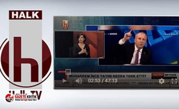 YouTube'tan Halk TV'ye Muharrem İnce sansürü!