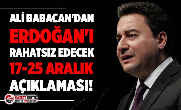 Ali Babacan'dan Erdoğan'ı rahatsız edecek açıklama!