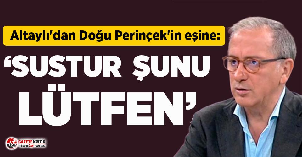 """Altaylı'dan Perinçek'in eşine """"İstanbul Sözleşmesi"""" çıkışı!"""