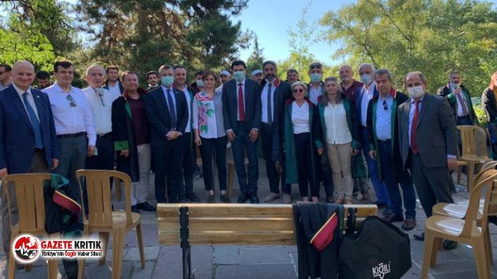 Canan Kaftancıoğlu, oturma eylemi yapan baro başkanlarını yalnız bırakmadı!