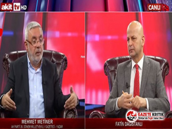 Mehmet Metiner'den canlı yayında şok FETÖ itirafı