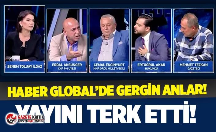 Muharrem İnce'nin ardından CHP'li Erdal Aksünger de canlı yayını terk etti!