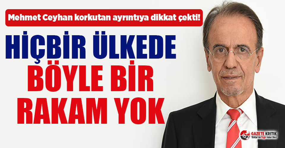 Prof. Dr. Mehmet Ceyhan, hasta sayısındaki korkutan ayrıntıya dikkat çekti!