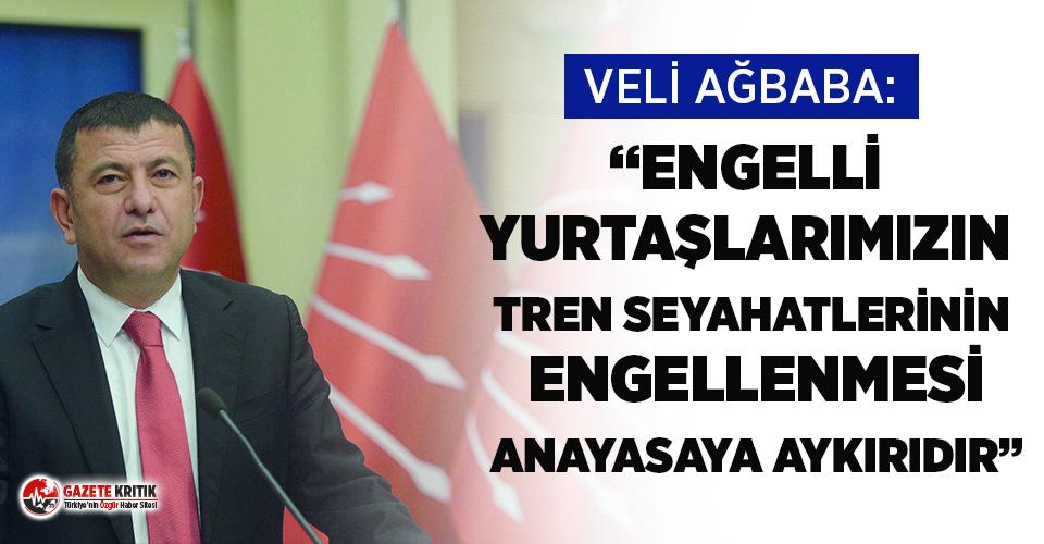 Veli Ağbaba: ''Engelli Yurttaşlarımızın Tren Seyahatlerinin Engellenmesi Anayasaya Aykırıdır''
