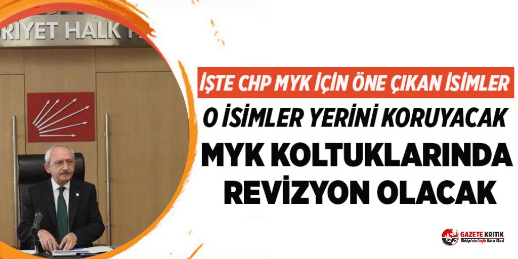 CHP'de MYK'nın şifreleri belli oldu! İşte o isimler...