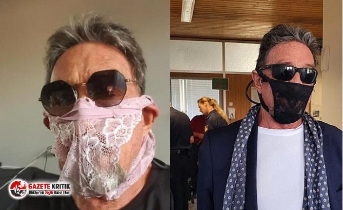 Maske yerine kadın iç çamaşırı takan ünlü iş insanı gözaltına alındı