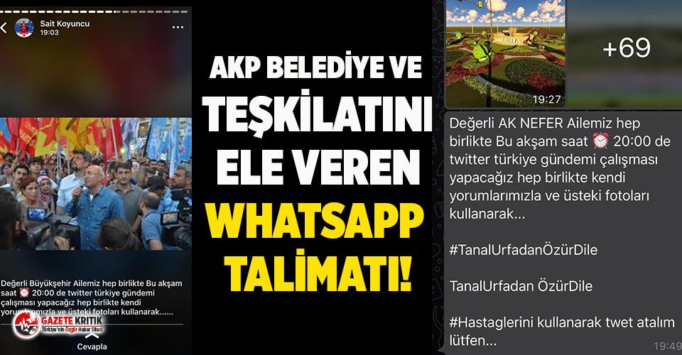 Whatsapp'taki talimatla CHP'li vekil aleyhinde TT çalışması yaptılar!