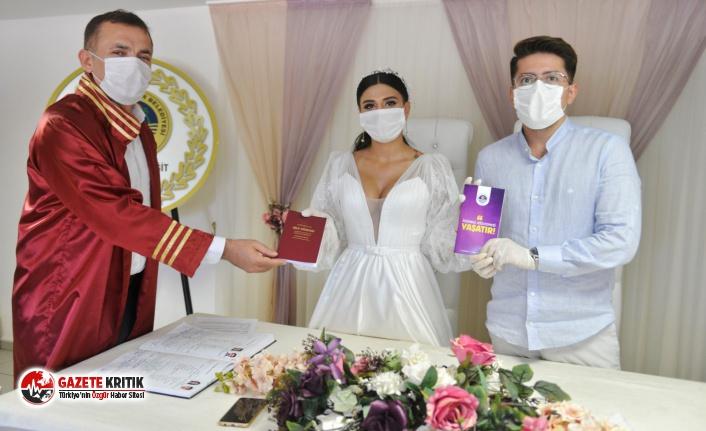 Yenişehir Belediyesinden evlenen çiftlere İstanbul Sözleşmesi