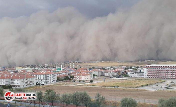 Ankara'da etkili olan kum fırtınasında 6 kişi yaralandı