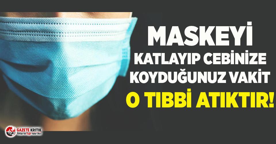 Antalya Eczacılar Odası Başkanı Ertekin'den kritik maske uyarısı!