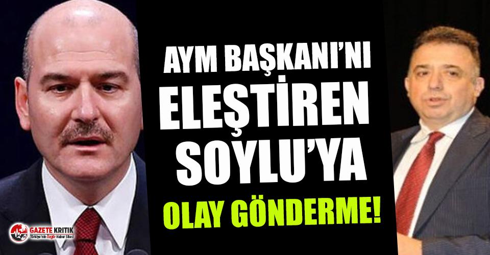 AYM Başkanı'nı eleştiren Soylu'ya AYM üyesinden olay gönderme!