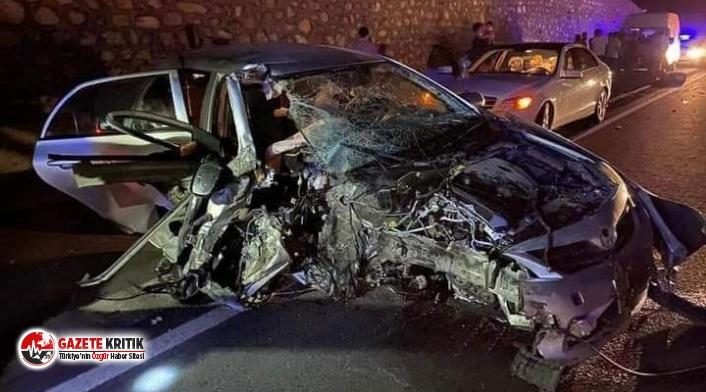 Belediye Başkanı kaza yaptı, araç hurdaya döndü