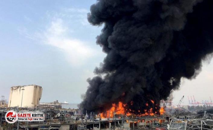 Beyrut'ta 1 ay sonra büyük yangın: Kara alevler yükseliyor