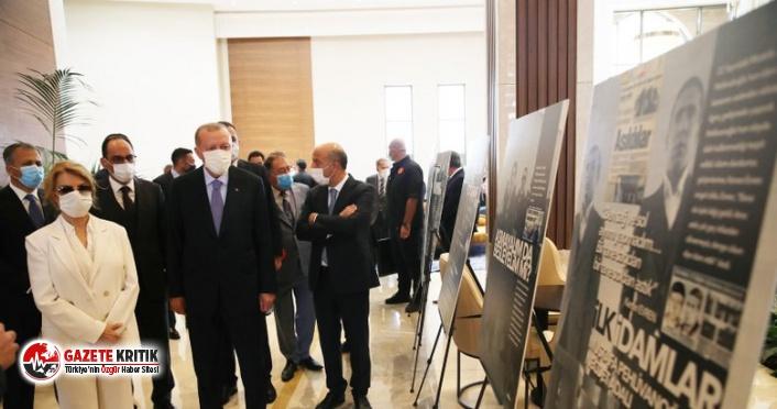 Erdoğan ve Tansu Çiller 12 Eylül askeri darbesinin fotoğraf sergisini gezdi
