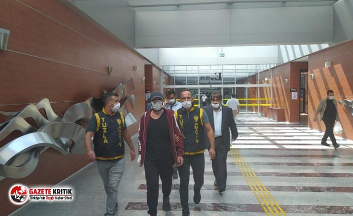 Halil Sezai polis eşliğinde ifade vermek üzere İstanbul Adliyesi'ne getirildi