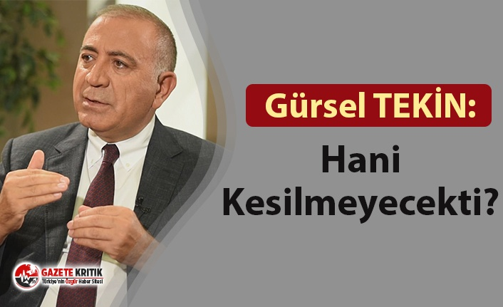 CHP'li Tekin'den iktidara uyarı: Hani Kesilmeyecekti?