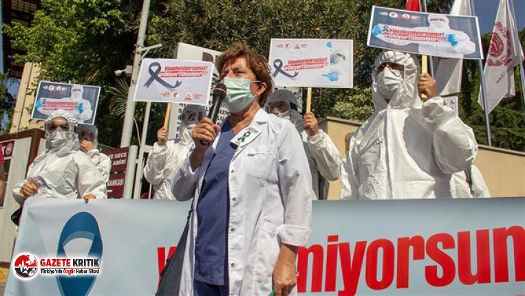 Hekimlerden Çapa'da eylem: Ölüyor, tükeniyoruz!