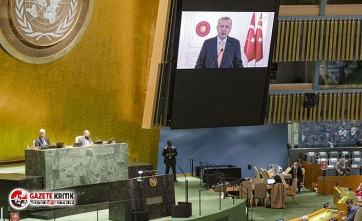 İsrail'in BM Daimi Temsilcisi, Erdoğan'ın sözleri üzerine salonu terk etti!