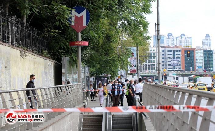 Mecidiyeköy-Şişli Metrosu'nda intihar girişimi
