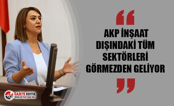 """TAŞCIER: """"AKP İNŞAAT DIŞINDAKİ TÜM SEKTÖRLERİ GÖRMEZDEN GELİYOR"""""""
