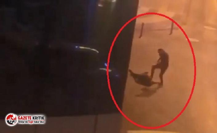 Yaşlı adamı herkesin gözü önünde öldüresiye dövdü