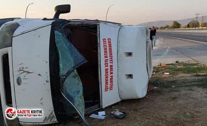 10 Ekim Katliamı anması için yola çıkan CHP'liler trafik kazası geçirdi