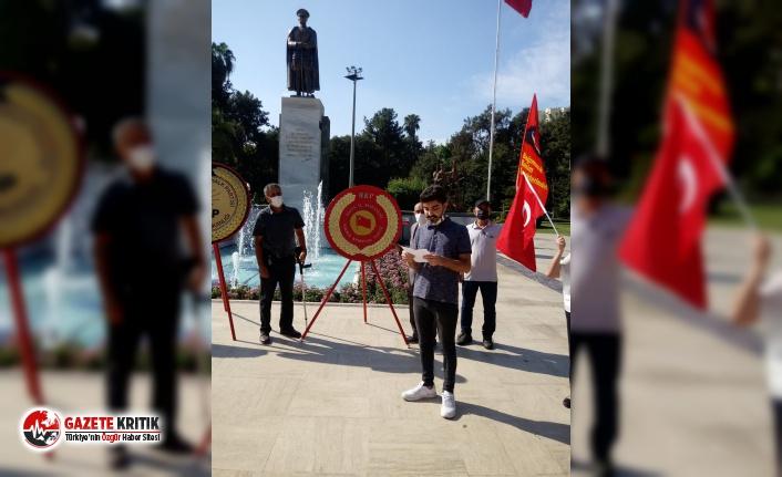 Adana'da çelenk törenine GBT Engeli!